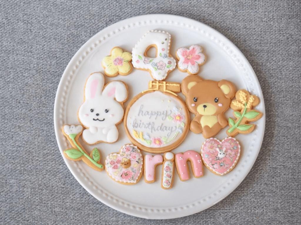 お誕生日のお祝いクッキー